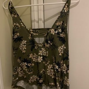 American Eagle Outfitters Tops - Green Floral Tank Top American Eagle